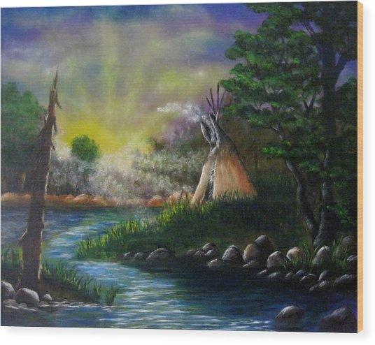 Silent Dawn Wood Print