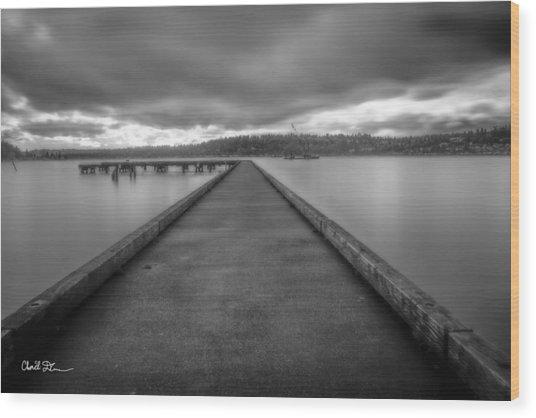 Silent Dock Wood Print