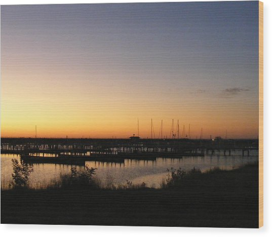 Silent Harbor Wood Print