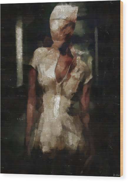 Silent Hill Nurse Wood Print