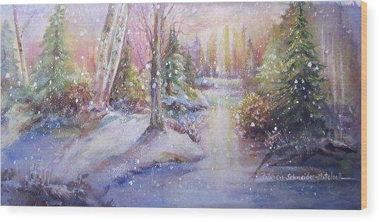 Silent Snowfall Wood Print