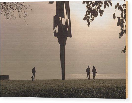 Silhouettes I Wood Print