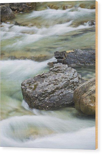 Silk And Stone Johnston Canyon Wood Print