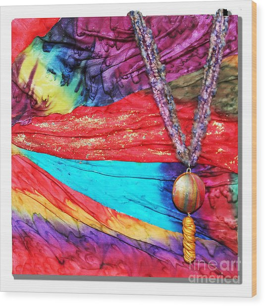 Silk Canvas With Necklace Wood Print