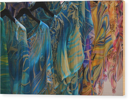 Silk Tops Wood Print