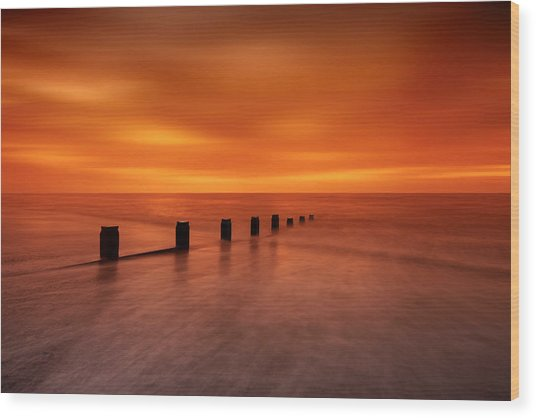Silky Sunrise Wood Print by Mark Leader