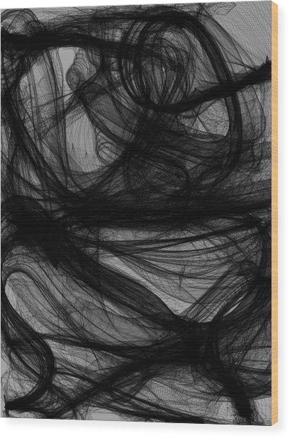 Silt Wood Print by Guillermo De Llera