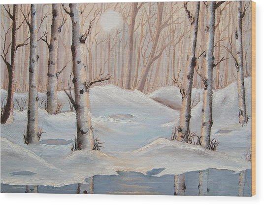 Silver Birch Wood Print