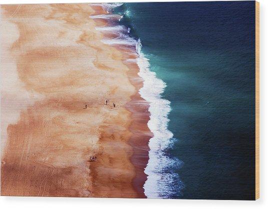 Silver Coast Wood Print