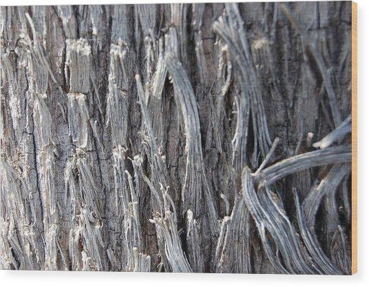 Silver Heavy Metal  Wood Print