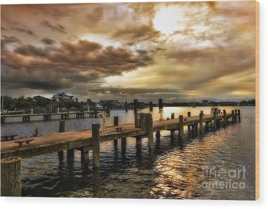Silver Lake Harbor Wood Print