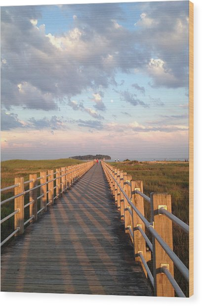 Silver Sands Beach At Sunset Wood Print