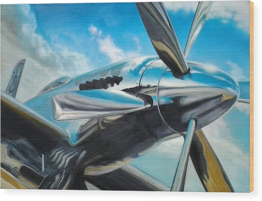 Silver Sky Plough Wood Print by Riek  Jonker