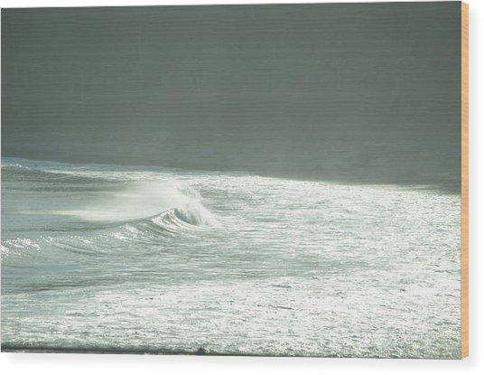 Silver Wave Wood Print