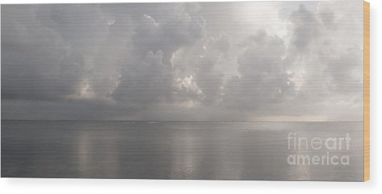 Silvern Sea Wood Print