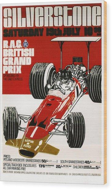 Silverstone Grand Prix 1969 Wood Print