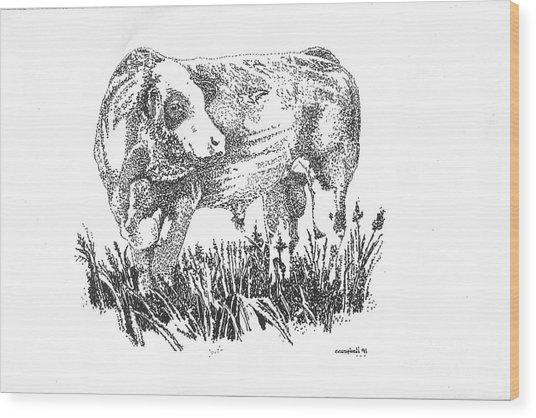 Simmental Bull Wood Print
