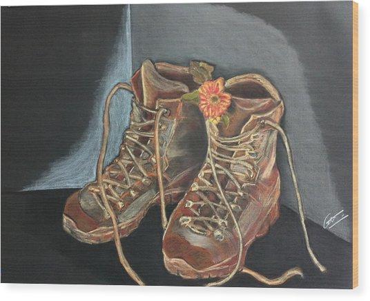 Simon's Boots Wood Print