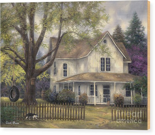Simple Country Wood Print by Chuck Pinson