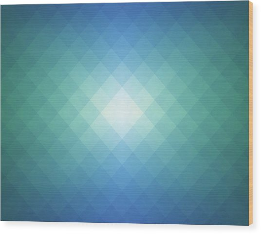 Simple Pixels Background Wood Print by Simon2579