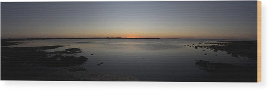 Simple Sunset Wood Print by Michael James