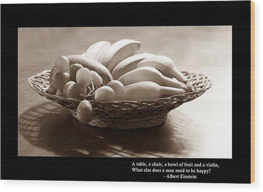 Simple Things In Life Wood Print by Ajithaa Edirimane