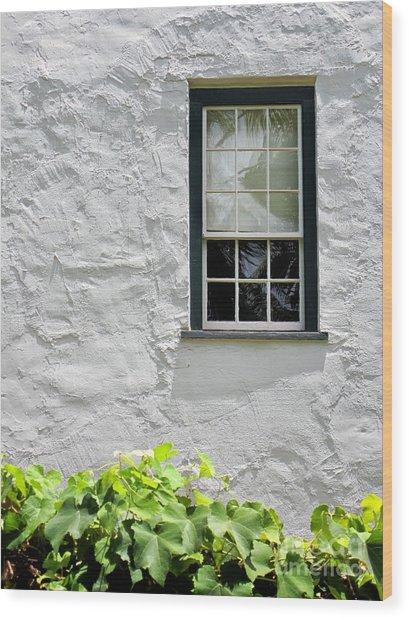 Simple Window Wood Print