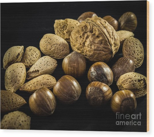 Simply Nuts Wood Print
