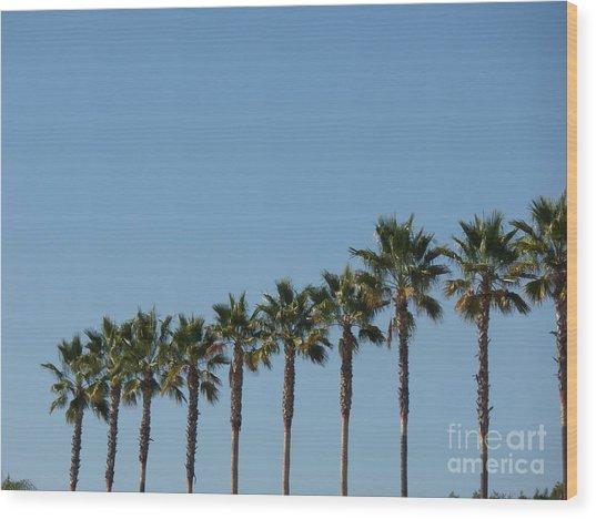 Simply Palms Wood Print