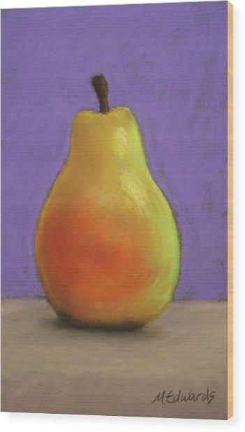 Simply Pear Wood Print