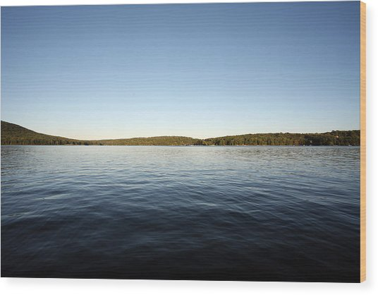 Simply Water And Sky Wood Print