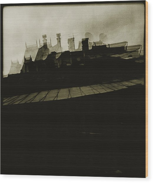 Simulacrum -8.1 Wood Print by Alex Zhul