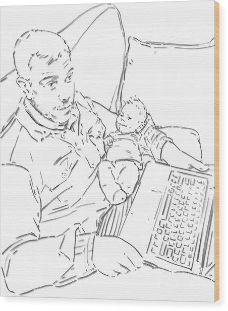 Sing Me To Sleep Daddy Wood Print