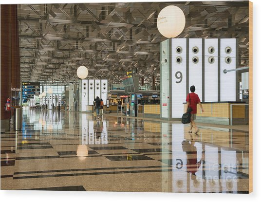 Singapore Changi Airport 03 Wood Print