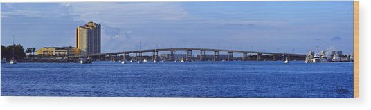 Singer Island Bridge Wood Print