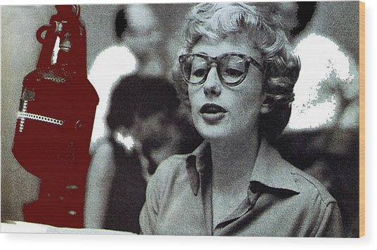 Singer Pianist Blossom Dearie  No Known Date Wood Print