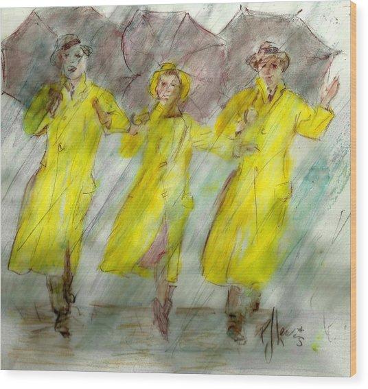 Singing In The Rain Wood Print