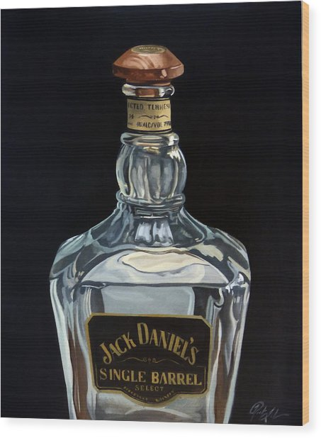 Single Barrel Jack Daniel's Wood Print