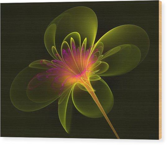 Single Flower Wood Print