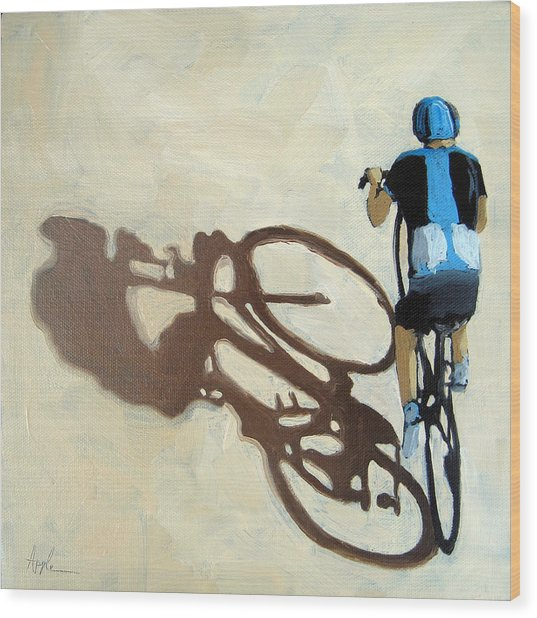 Single Focus Bicycle Art Wood Print