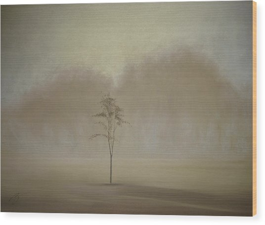 Single Tree - Pastel Wood Print