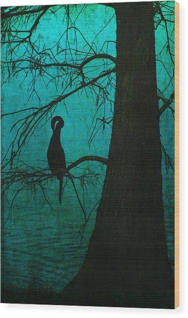 Singular Anhinga  Wood Print