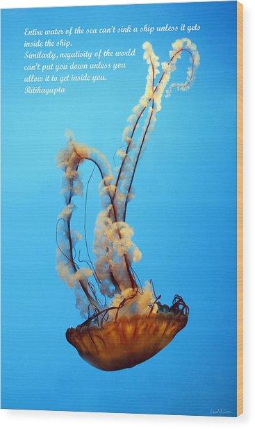Sinking Wood Print by David Simons