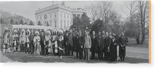 Sioux Indians Washington Dc Wood Print