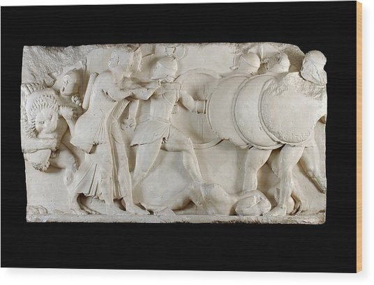 Siphnian Treasury Frieze Wood Print by Ashmolean Museum/oxford University Images