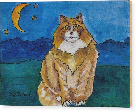 Sir Drake A Lotta Cat IIi Wood Print