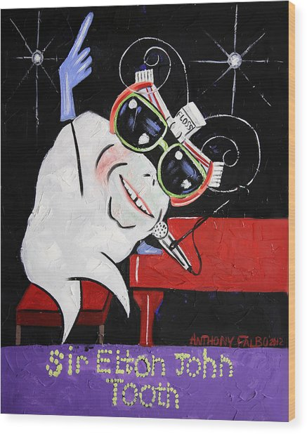 Sir Elton John Tooth  Wood Print