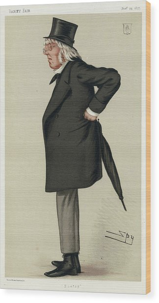 Sir Francis Hastings  Charles Doyle Wood Print by Mary Evans Picture Library