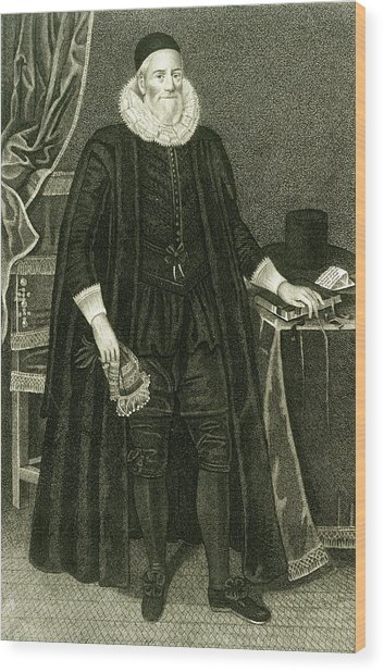 Sir Henry Savile  Scholar And Greek Wood Print by Mary Evans Picture Library