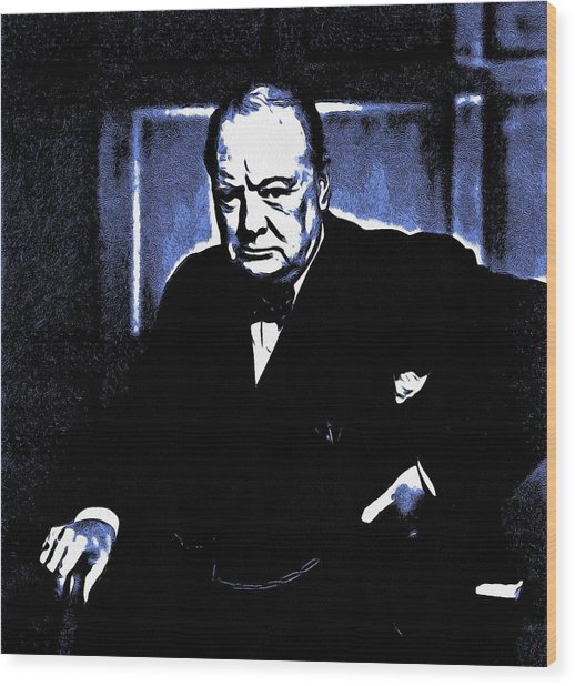Sir Winston Churchill Wood Print
